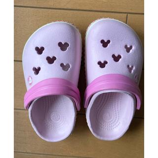 クロックス(crocs)のクロックス ピンク ディズニー 14cm  15cm(サンダル)