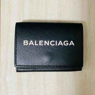 Balenciaga - バレンシアガ BALENCIAGA 財布 三つ折り  ミニ財布 ブラック