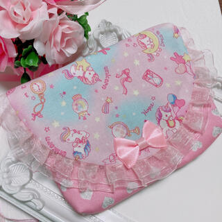 ユニコーン 月 ピンク 移動ポケット(外出用品)