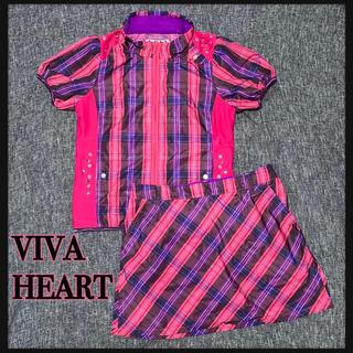 ビバハート(VIVA HEART)のVIVA HEART ゴルフウェア 上下set 美品(ウエア)