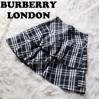バーバリー(BURBERRY)のバーバリーロンドン BURBERRY LONDON膝丈フレアノバチェックスカート(ひざ丈スカート)