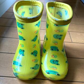 ニシマツヤ(西松屋)の長靴 キッズ カエル 14cm(長靴/レインシューズ)
