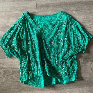 グレースコンチネンタル(GRACE CONTINENTAL)のグレースコンチネンタル スパンコールトップス(Tシャツ(半袖/袖なし))
