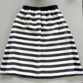 エニィスィス(anySiS)のサイズS/any sis ボーダーフレアスカート(ひざ丈スカート)