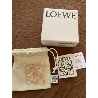 LOEWE - 美品 ロエベ アナグラム ブローチ ローズゴールド