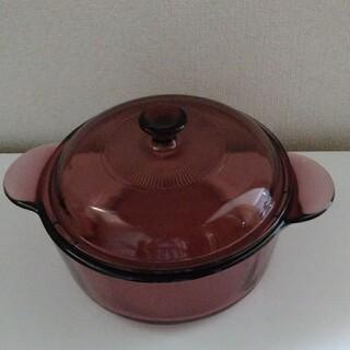 パイレックス(Pyrex)のcorning キャセロール鍋 クランベリー 紫 iwaki vision(鍋/フライパン)