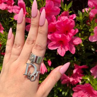 クリスチャンディオール(Christian Dior)のクリスチャンディオール ♡ トロッター ロゴプレート ヴィンテージ リング(リング(指輪))