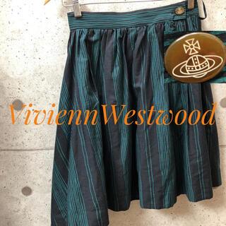 ヴィヴィアンウエストウッド(Vivienne Westwood)のviviennewestwood  スカートグリーン チェック柄(ひざ丈スカート)