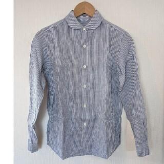 ルグラジック(LE GLAZIK)のBshop リネンシャツ 長袖 丸襟 ストライプ(シャツ/ブラウス(長袖/七分))