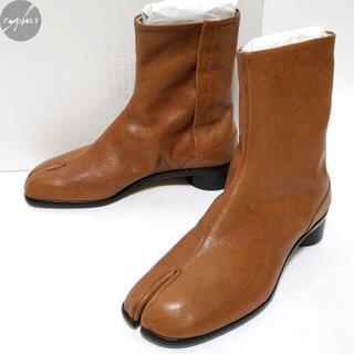 マルタンマルジェラ(Maison Martin Margiela)の21SS メゾンマルジェラ 22 レザー 足袋 ブーツ 茶42 27cm新品タビ(ブーツ)