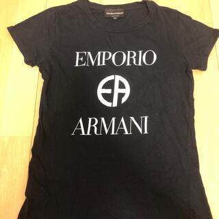 エンポリオアルマーニ(Emporio Armani)の新品未使用 EMPORIO ARMANI Tシャツ 黒色 Sサイズ(Tシャツ(半袖/袖なし))