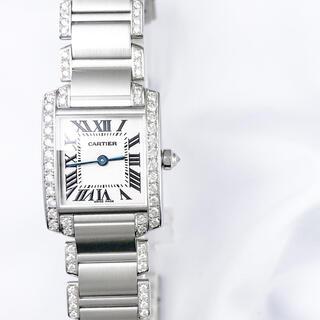 カルティエ(Cartier)の【保証書付】カルティエ タンクフランセーズ シルバー ダイヤ レディース 腕時計(腕時計)