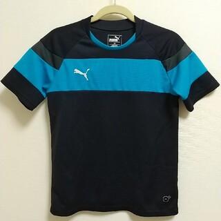 PUMA - プーマ 140サッカーシャツ 半袖 紺×青