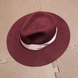 ジルスチュアート(JILLSTUART)のJILLSTUART ジルスチュアート ボルドー フェルトハット 帽子(ハット)