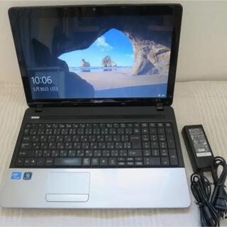 エイサー(Acer)の【今週までのお譲り】acerAspireE1win10/8GB/SSD120GB(ノートPC)