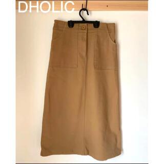 ディーホリック(dholic)のDHOLIC ディーホリック タイトスカート ブラウン 茶色(ひざ丈スカート)
