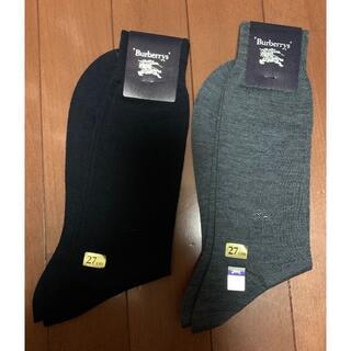 バーバリー(BURBERRY)のメンズ靴下27cm Burberry2足(ソックス)
