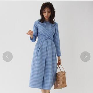 アクアガール(aquagirl)の定価22000円税別 新品タグ付き⭐️2ウェイチェックリボンワンピース(ロングワンピース/マキシワンピース)