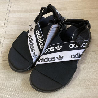 adidas - 5.新品 アディダスオリジナルス レディース サンダル ブラック 22.5㎝
