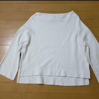 グローバルワーク(GLOBAL WORK)のグローバルワーク GLOBAL WORK ホワイトボートネック(Tシャツ(長袖/七分))