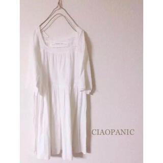 チャオパニックティピー(CIAOPANIC TYPY)のCIAOPANIC 白ホワイト ナチュラル系に…(ひざ丈ワンピース)