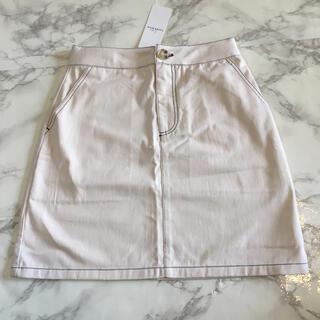 プティマイン(petit main)の新品 未使用 タグ付き リセマイン 配色ステッチ台形スカート 150(スカート)