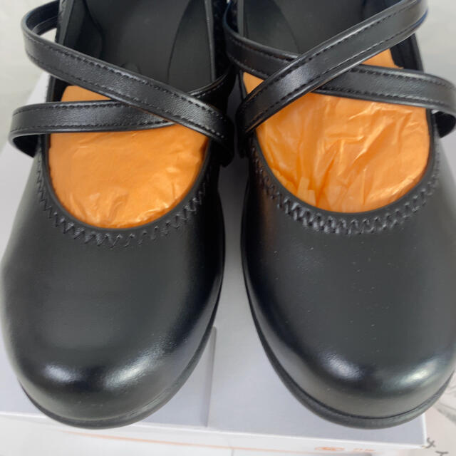 Re:getA(リゲッタ)のR-35 リゲッタ レディース クロスベルト ウェッジ パンプス ブラック レディースの靴/シューズ(ハイヒール/パンプス)の商品写真