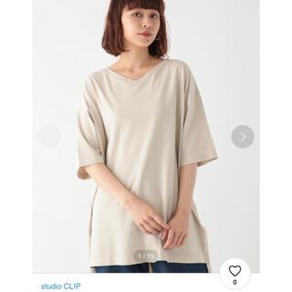 スタディオクリップ(STUDIO CLIP)のスタディオクリップ ゆるVネックピグメントチュニックプルオーバー(Tシャツ(半袖/袖なし))