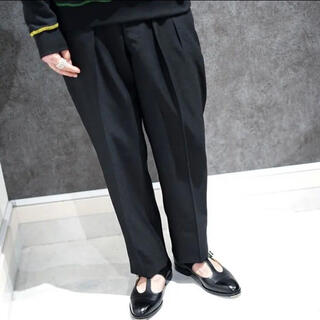 NEAT MOHAIR BARATHA TAPERED Black size48(スラックス)