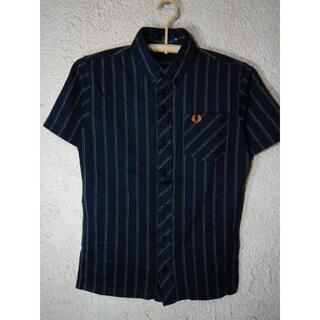 FRED PERRY - o2968 FRED PERRY 日本製 半袖 ストライプ デザイン シャツ