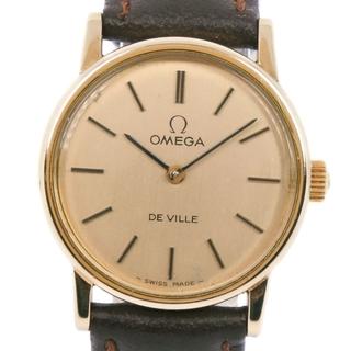 オメガ(OMEGA)のアナログ表示オメガ デビル/デヴィル  cal.625   GP レザー(腕時計)