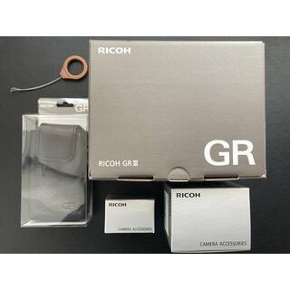 リコー(RICOH)の(ウイ様専用)【ほぼ未使用】RICOH リコー GR 3 III オプション付き(コンパクトデジタルカメラ)
