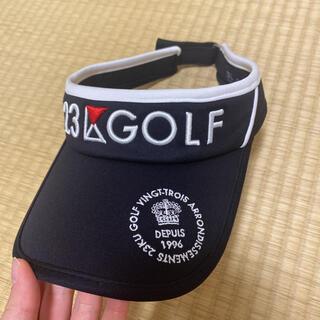 23区 ゴルフ サンバイザー