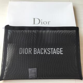 ディオール(Dior)のディオール Dior ポーチ ブラック メッシュ ロゴ ノベルティ 非売品 新品(ポーチ)