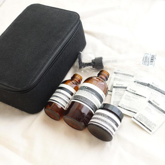 Aesop(イソップ)のAesop イソップ  空き瓶 ポーチ テスター コスメ/美容のコスメ/美容 その他(その他)の商品写真