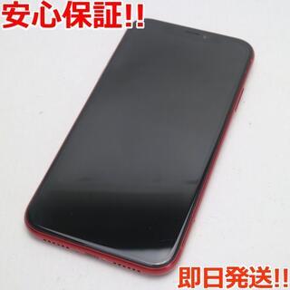 アイフォーン(iPhone)の美品 SIMフリー iPhoneXR 128GB レッド RED 白ロム (スマートフォン本体)