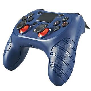 USB付 PS4 ワイヤレスコントローラー ブルー Blue 青色 互換品(その他)