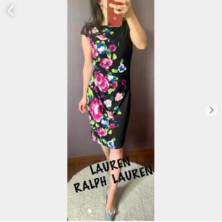 Ralph Lauren - LAUREN RALPH  LAUREN 花柄ワンピース