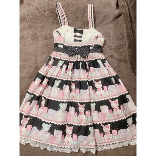 アンジェリックプリティー(Angelic Pretty)のFancy Box胸切替ジャンパースカート(ひざ丈ワンピース)