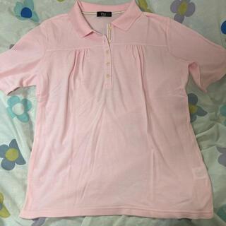 ニッセン - ポロシャツ ピンク 半袖 Tシャツ LL