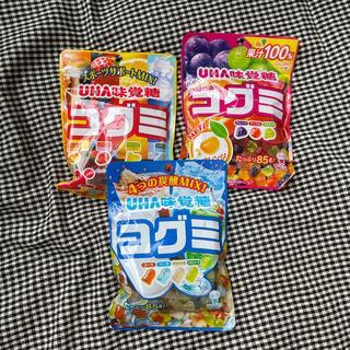 ユーハミカクトウ(UHA味覚糖)のグミセット コグミ UHA味覚糖 3袋セット ポイント消化(菓子/デザート)