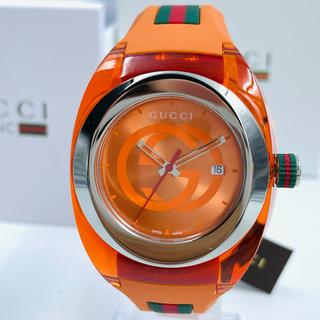 グッチ(Gucci)の新品・シリーズ 人気!GUCCI WATCH SYNC☆グッチ腕時計オレンジ橙色(ラバーベルト)