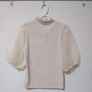 グレイル(GRL)のGRL パフスリーブ ニット トップス(シャツ/ブラウス(半袖/袖なし))