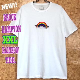スヌープドッグ(Snoop Dogg)のレア ☆ ブロックハンプトン レインボー Tシャツ 白  XXL 3L(Tシャツ/カットソー(半袖/袖なし))