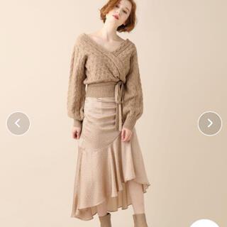 デイシー(deicy)の♡deicy ランダムドットヘムフレアスカート♡(ひざ丈スカート)