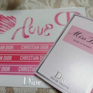 クリスチャンディオール(Christian Dior)の42 ミスディオール香水サンプル&ステッカーシール(サンプル/トライアルキット)
