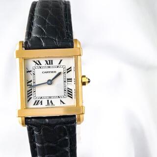 カルティエ(Cartier)の【仕上済】カルティエ TANK シノワーズ SM K18YG レディース 時計(腕時計)
