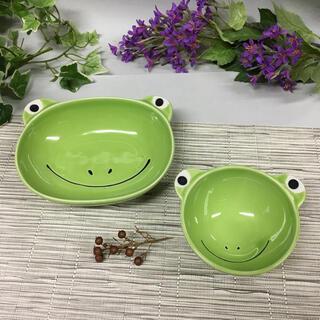 カエルごはん茶碗とカレー皿(食器)