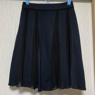 アナトリエ(anatelier)のアナトリエ 異素材プリーツスカート シフォン(ひざ丈スカート)