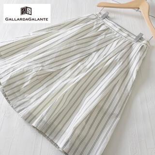 ガリャルダガランテ(GALLARDA GALANTE)のGALLARDAGALANTE ストライプフレアスカート(ひざ丈スカート)